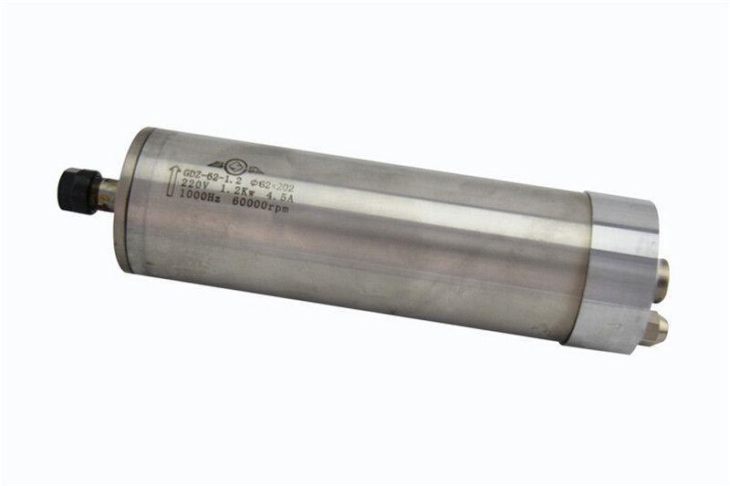 60000rpm 1.2kw 1.5hp ER11 water cooling spindle motor&SUNFAR 1.5KW 1phase 220v inverter&bracket&pump CNC kits
