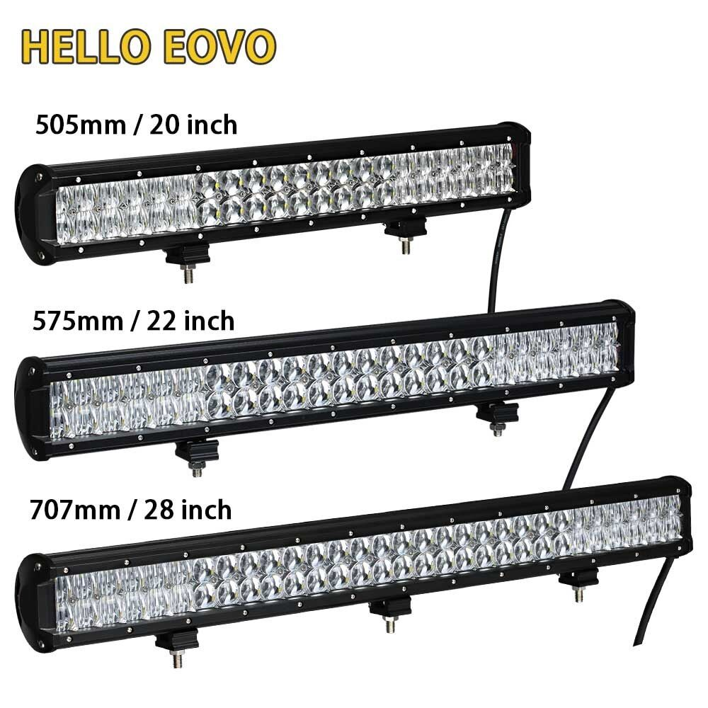 HELLO EOVO 5D 20 / 22 / 28 inch LED Light Bar LED Bar Work Light for Driving Offroad Car Tractor Truck 4x4 SUV ATV 12V 24V