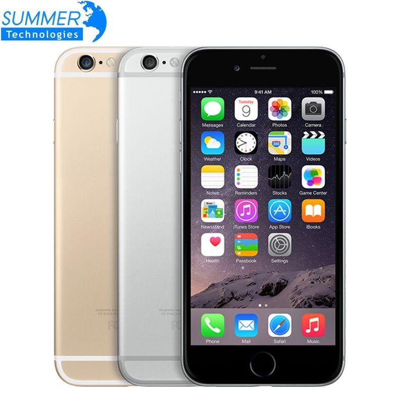 Original Unlocked Apple iPhone 6/6 Plus Mobile Phone IPS GSM WCDMA LTE 1GB RAM 16/64/128GB ROM WIFI Fingerprint Smartphone