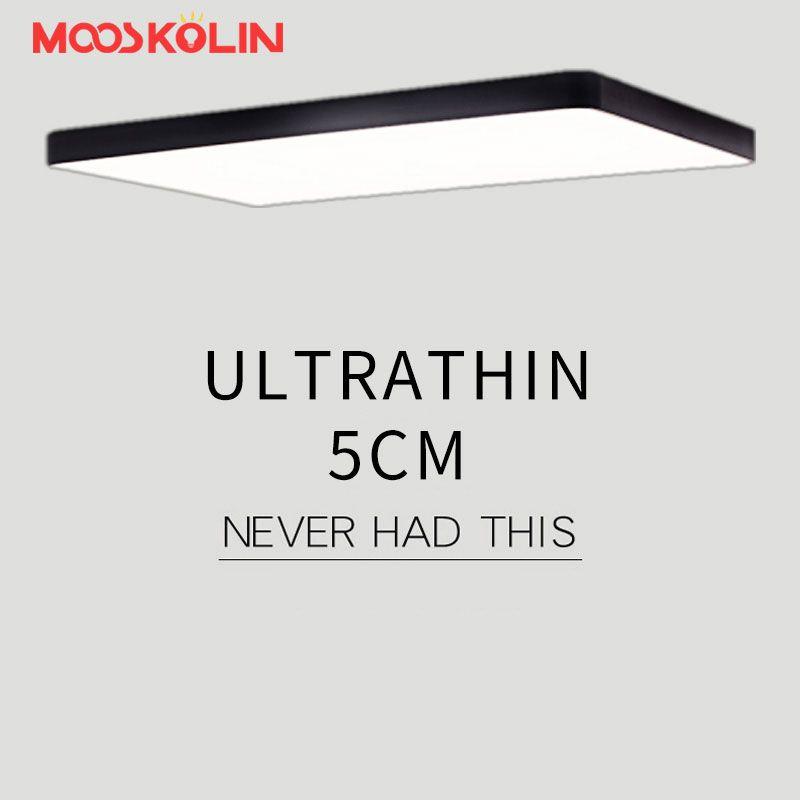 Mooskolin Modern led ceiling lights for Living room Bedroom Kitchen luminaria led ultra-thin 5CM hall luminaria led ceiling lamp
