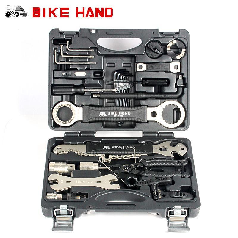 BIKE HAND Fahrrad Reparatur-werkzeug 18 in 1 Mountainbike professionelle Tool Kit Speichenschlüssel Freilauf Pedal Schraubenschlüssel Für Shimano