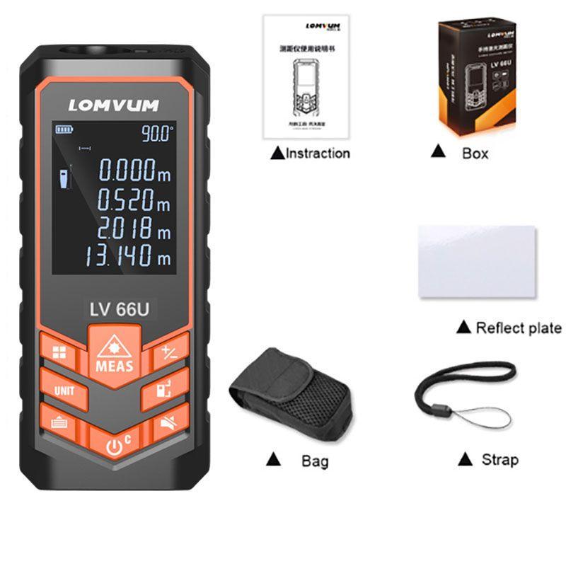 LOMVUM vente 66U télémètre Laser de niveau automatique alimenté par batterie multifonction télémètre Vision nocturne outil télémètre Laser