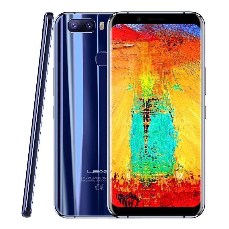 LEAGOO S8 Pro 5.99'' Full Screen Android 7.0 MTK6757 Octa Core Smartphone 6GB RAM 64GB Dual Back Cameras Fingerprint 4G Phones