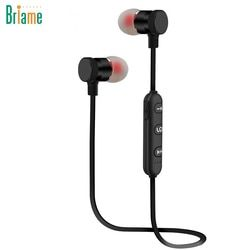 Briame Metal Sports Bluetooth Headphone Wireless Earphone Magnetic Earpiece Stereo Headset for Mobile Phone Neckband Ecouteur