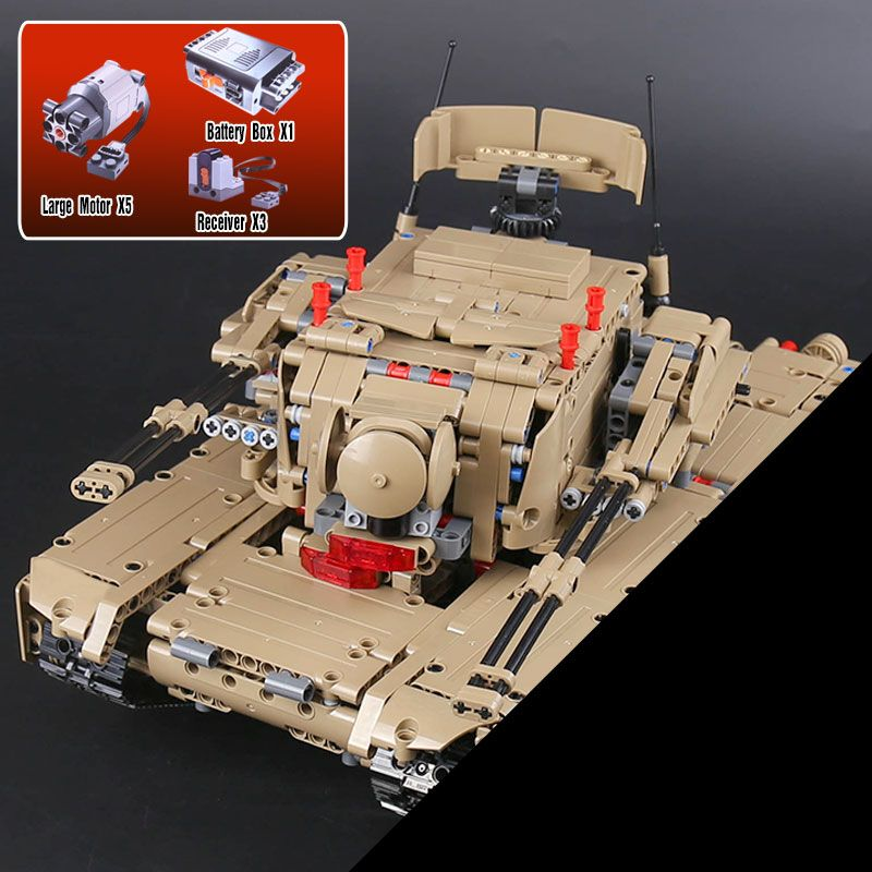 Lepin 20070 The Remote Control Tank Set Genuie 1572Pcs Military War Series Building Blocks Bricks Educational Toys As Funny Gift