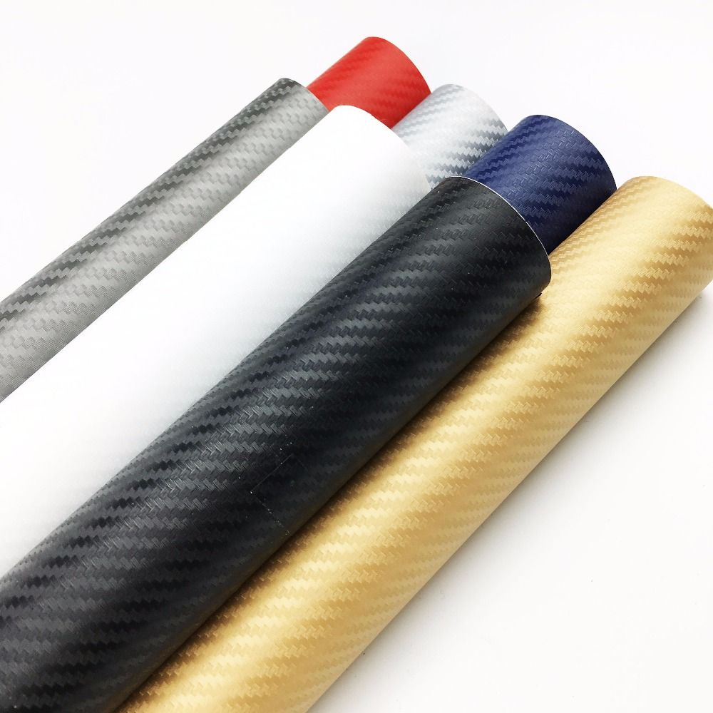 50cm*200cm 3D Car Film Carbon Fiber Vinyl Film Carbon Fibre Wrap Sheet Roll Film Car Stickers Motorcycle Car Styling Accessories