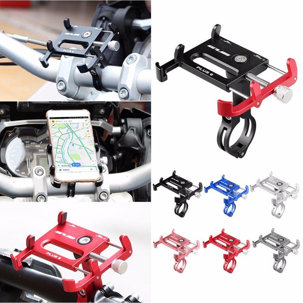 Plus 6 En Alliage D'aluminium Mobile socle support de téléphone de Guidon pour Vélo Moto VTT Route Vélo GPS support pour téléphone