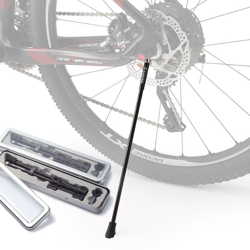 CORKI <font><b>Carbon</b></font> Bike Kickstand Sidestay Fit for 26/27.5/29/700c/20 Bicycle Racks Kick Bike Stands MTB/ road bike quick release rack