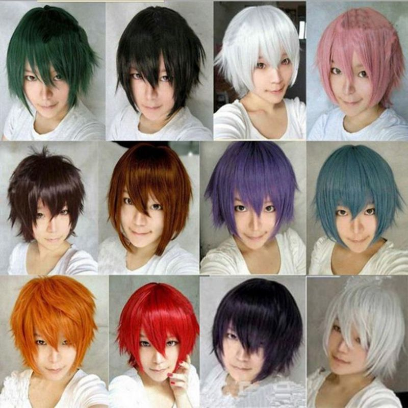 14 Colors Harajuku Anime Tokyo Ghoul Cosplay Wig Short Straight Heat Resistant Synthetic Hair Wigs For Japanese Anime Peruca