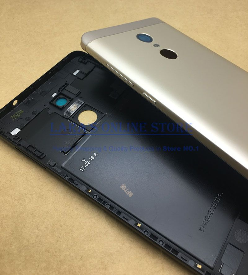 Original Aluminum Battery Cover Back Housing W Camera Lens +LCD Frame Middle Plate Cover for Xiaomi Redmi Note 4X