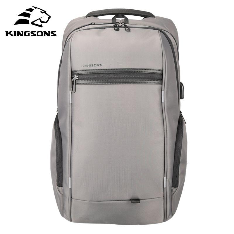 Kingsons Wasserdicht Männer Frauen Rucksack mit Sauger USB Ladung Laptop Computer Rucksack 13,3/15,6/17,3 inch School Tasche rucksack