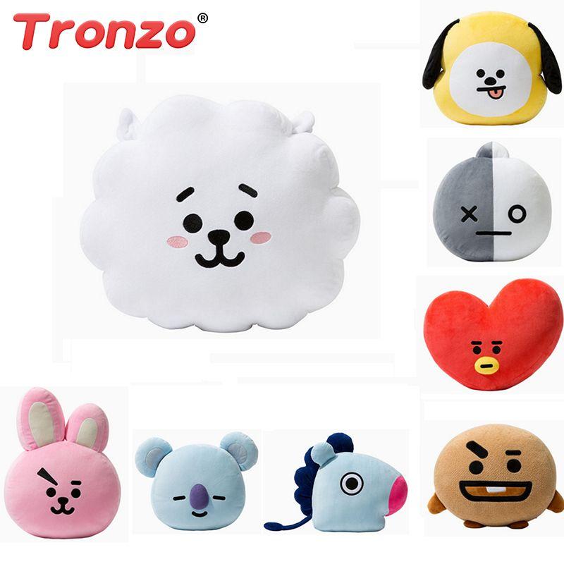 Tronzo Bangtan Boys BTS bt21 Kawaii <font><b>Pillow</b></font> Plush Toy cushion TATA VAN COOKY CHIMMY SHOOKY KOYA RJ MANG Gift For Children