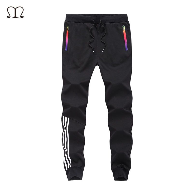 Spring Casual <font><b>Men</b></font> Sweat Pants Male Cotton Sportswear Casual Trousers Straight Pants Hip Hop High Street Trousers Pants joggers