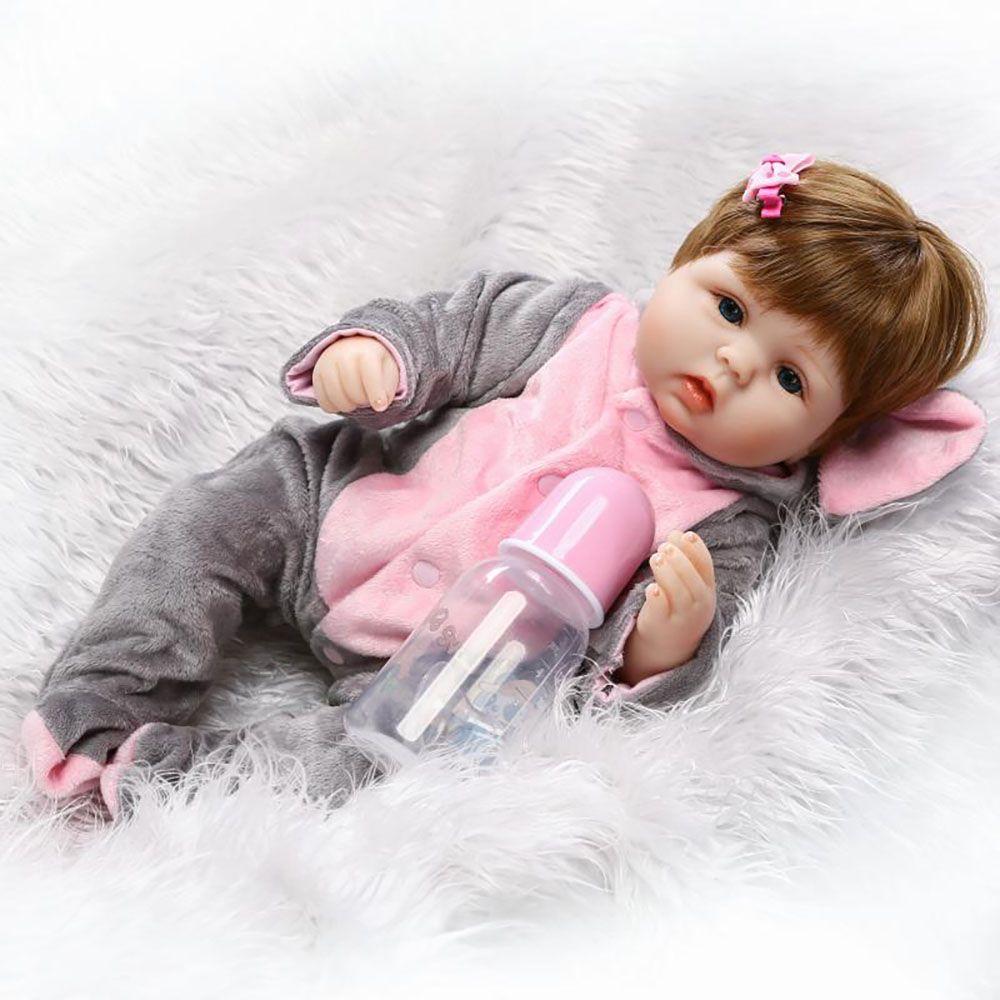 16 Inch/42 cm Reborn Newborn Bay Dolls Soft Silicone Realistic Alive Princess Babies Kids Birthday Christmas Gifts Play Toys