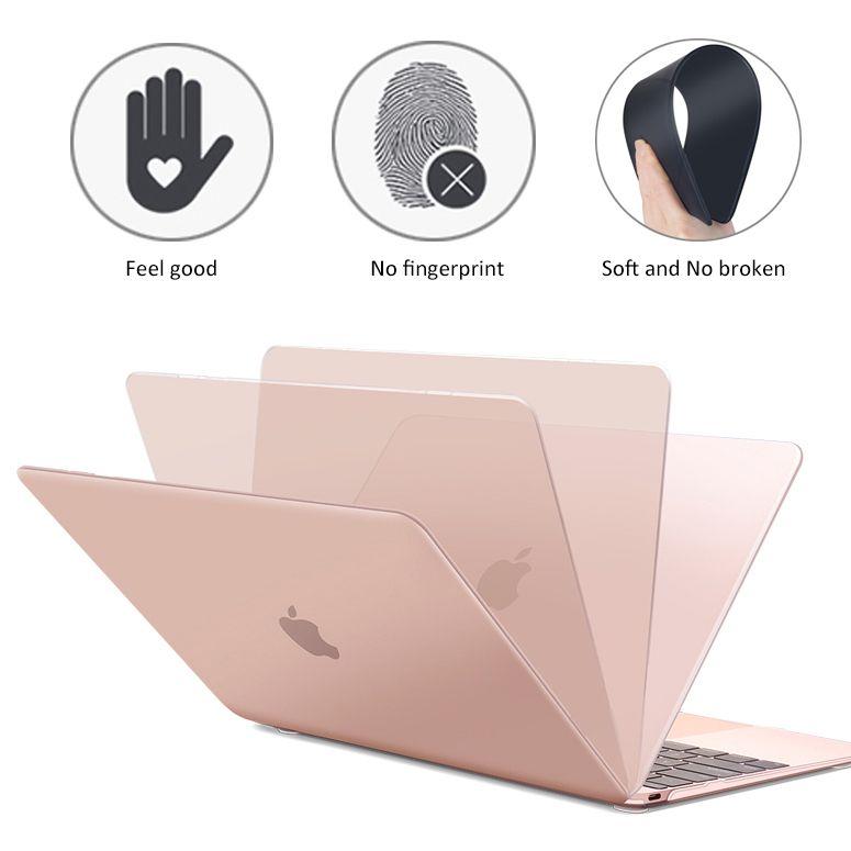 Mat Givré Complet Ordinateur Portable Cas Pour MacBook Air 13 A1932 ID Pro Retina 11 12 15 Touch Bar 2018 nouveau A1706 A1707 A1989 A1990