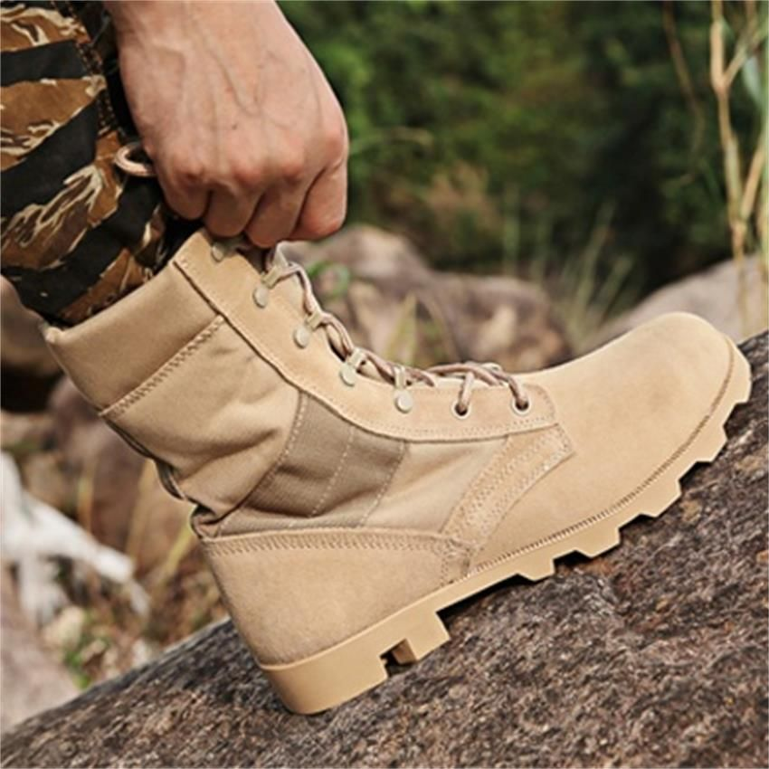 Men Outdoor Sport Camping Hiking Shoes Winter Breathable Travel Boots Male High Top Boots Men Tactical Boots Hiking Shoes Men