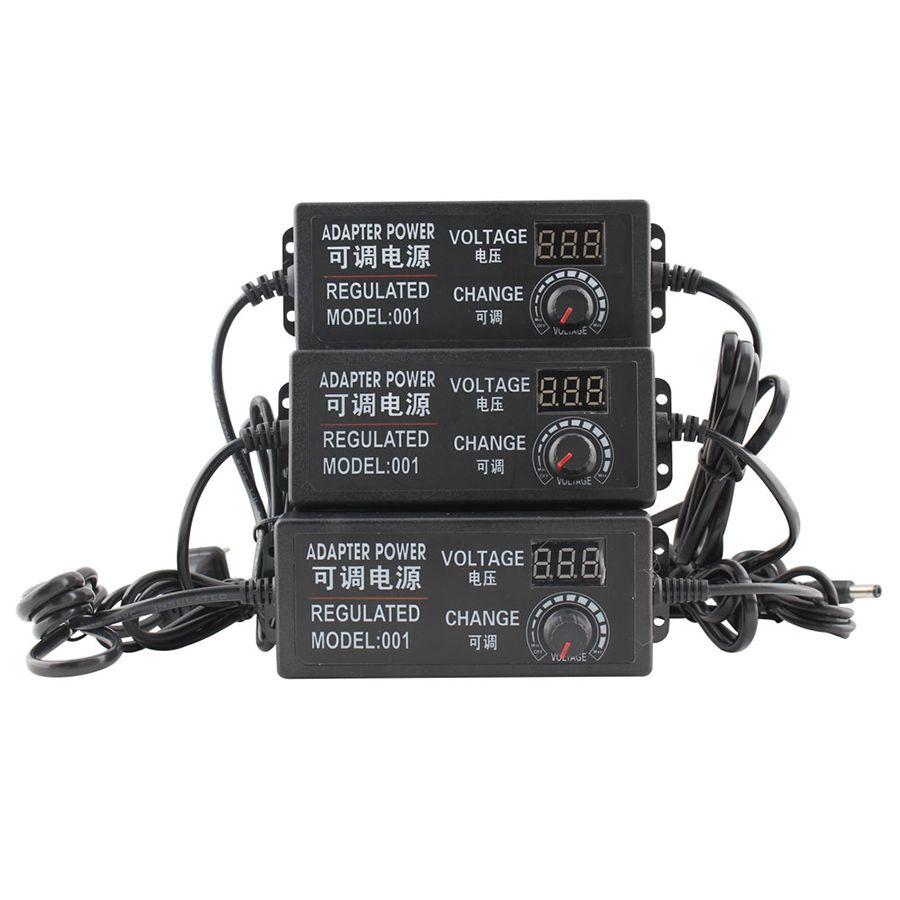 Réglable AC à DC 3 V 9 V 12 V 24 V universel adaptateur d'alimentation écran d'affichage chargeur de commutation de puissance Adatper 3 9 12 24 V Volt