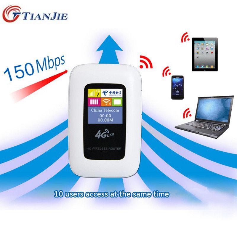Travel Partner 100M Mobile Hotspot Pocket Portable Wireless Unlock Mini Wi-Fi MiFi LTE Modem WiFi 4G Router with SIM Card Slot
