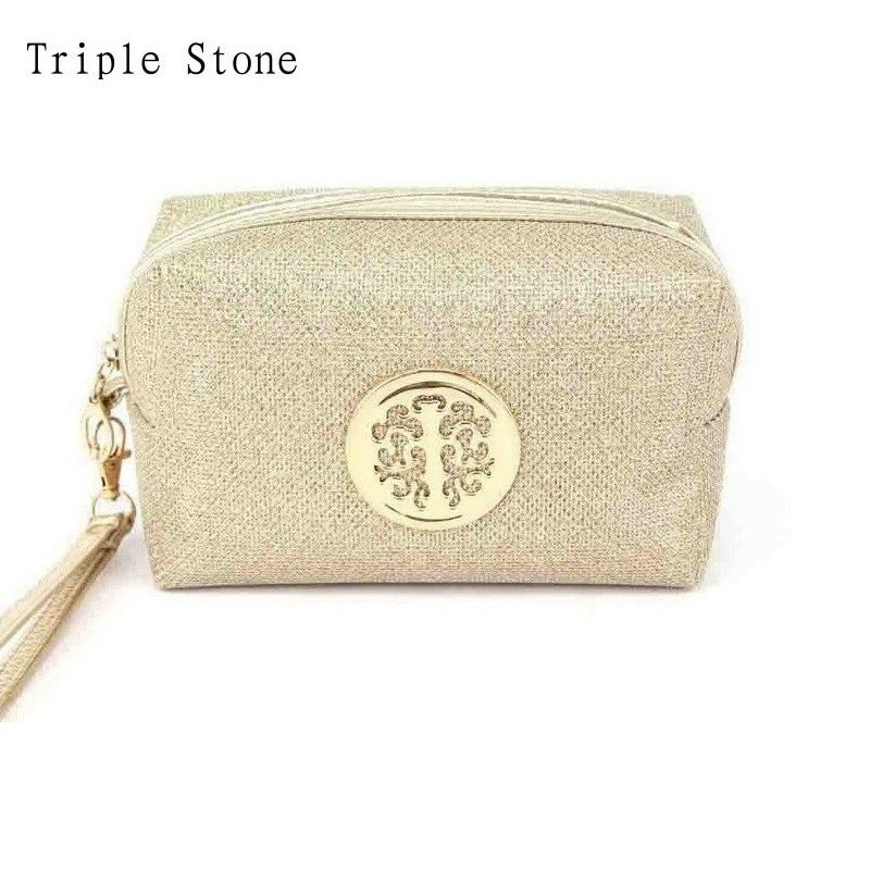 Triple Stone Luxury Brand Women Cosmetics Bag Small Travel Make up Case Makeup Bag Multifunctional Lady Purse Pouch Sac a Main