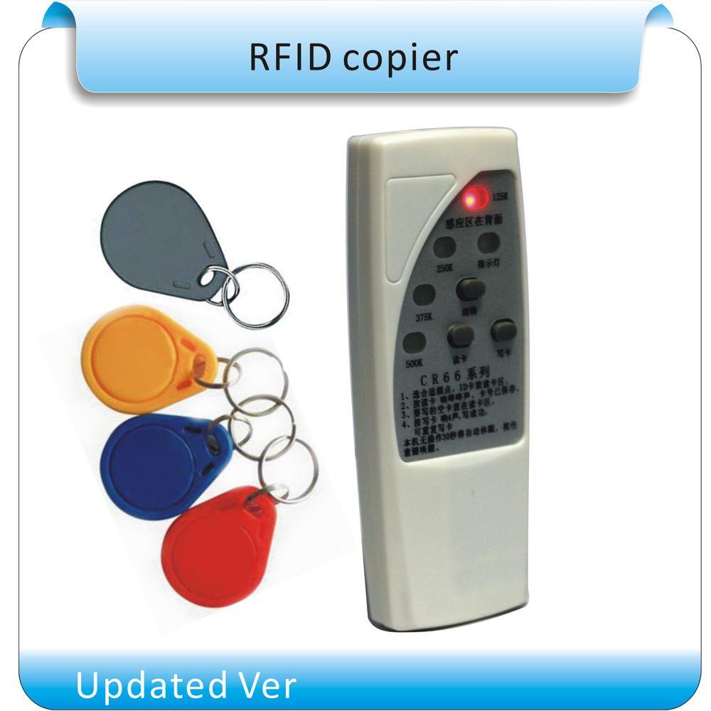 Livraison gratuite 4 types fréquence RFID Copieur/Duplicateur/Cloner D'IDENTITÉ EM lecteur et graveur + 10 pièces EM4305 inscriptible porte-clés