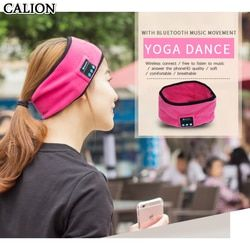 CALION Bluetooth Head Strap With Earphones Headphones Headset Wireless Music Sports Dance Polyester Headband For Phone Computer