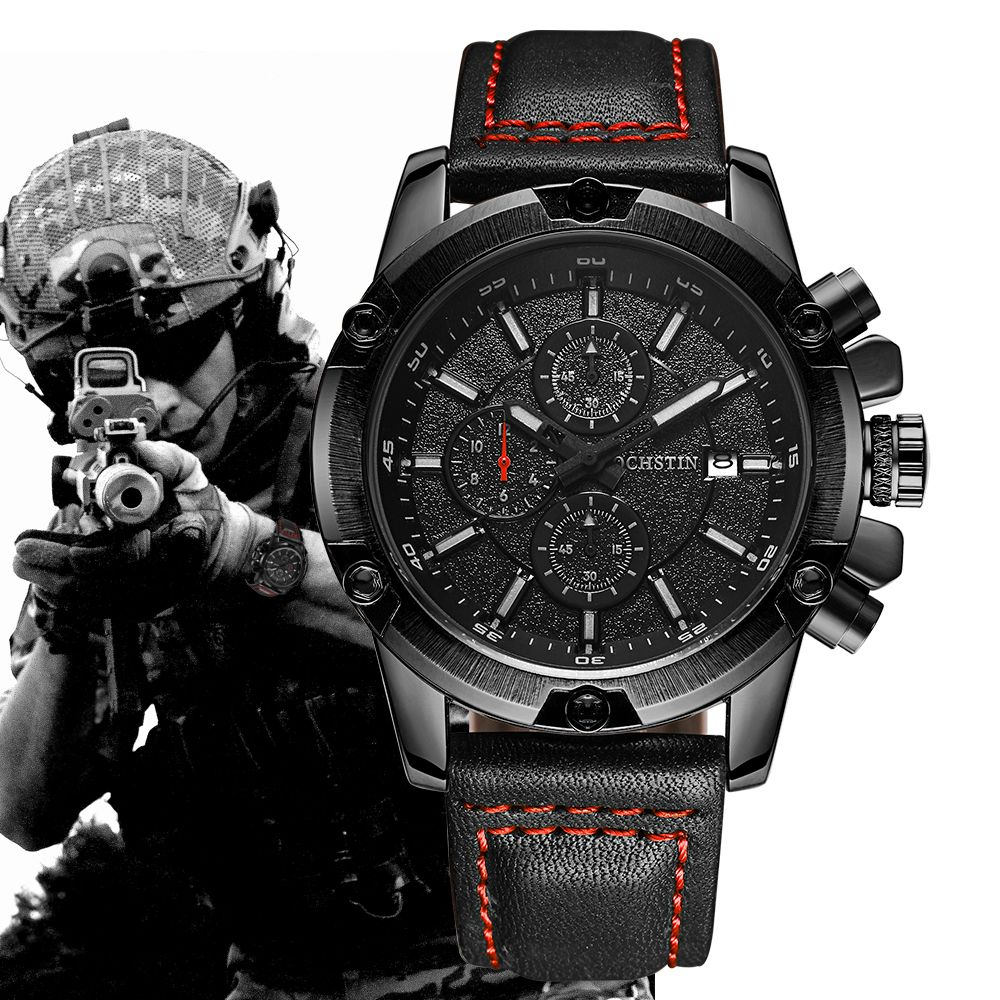 OCHSTIN Military Watch Men Top Brand Luxury Famous Sport Watch Male Clock Quartz Wrist Watch Relogio Masculino 2018 Black