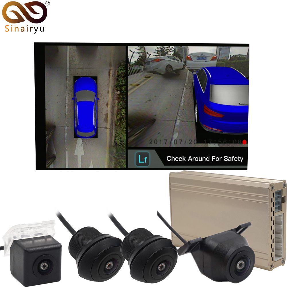 2019 panorama HD 1080 P 3D Surround Vogel Ansicht DVR Video Recorder System mit 4 Kameras und 25 Auto Modell 5 farben Optional