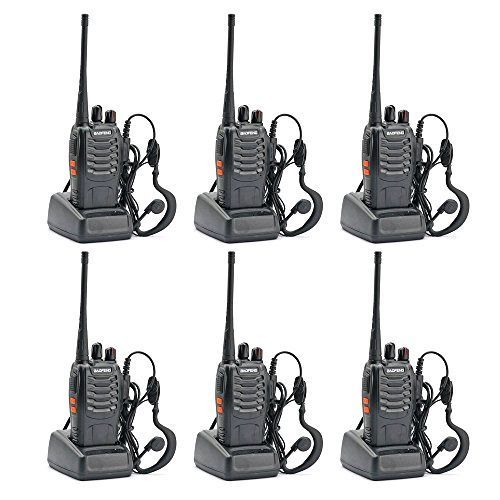 6PCS Brand BaoFeng BF-888S Two Way Radio (Pack of 6) new +earpiece+RUSSIA-MOSCOW STOCK