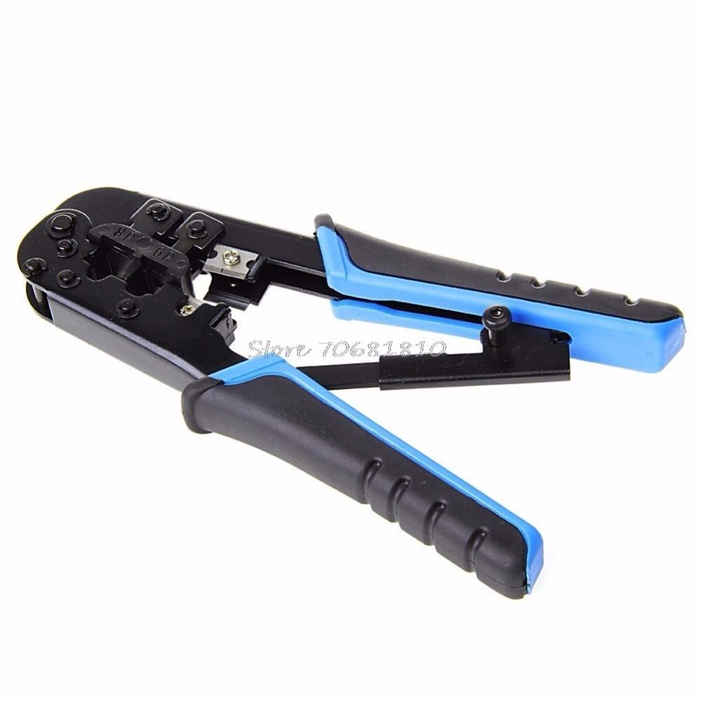 Dual Modular Network Cable Crimping Tool Wire Cutter Stripping Kit RJ45 RJ12 Drop Shipping