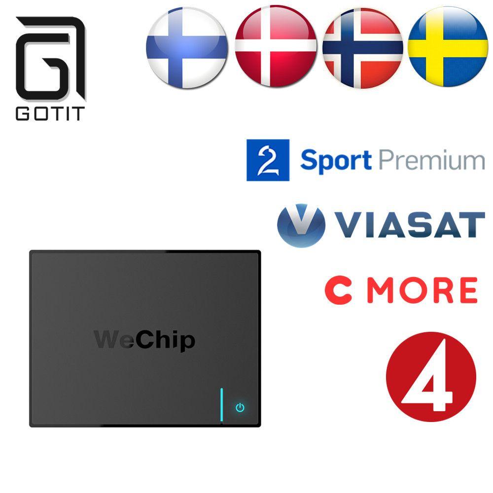 Best шведский Швеции Nordic арабский Европа Мира Pro IP ТВ wechip V5 Android 6.0 s905x Quadcore Коди Умные телевизоры коробка Бесплатная доставка