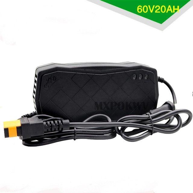 60 V 20AH Alimentation Adaptateur Smart Électrique Vélo Moto Chargeur Rechargeable Au Plomb Batterie Chargeur 60 V 3A NOUS /UE PLUG