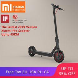 2019 Baru Asli Xiao Mi Mi Jia M365/Pro Mi Dewasa Electric Scooter Longboard Hoverboard Skateboard 2 Wheel Patinete 45Km Mi Leage