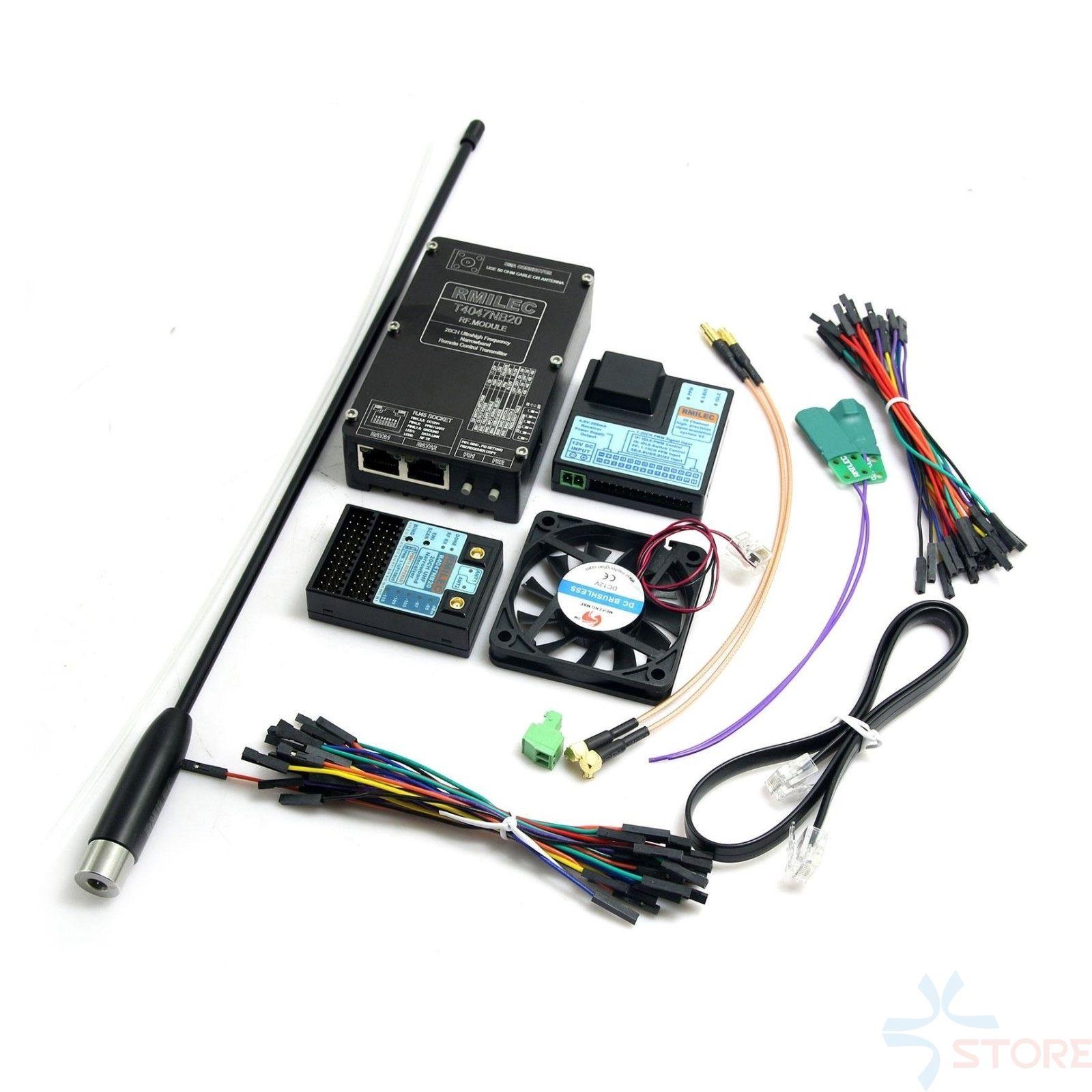 120KM Long Range RMILEC T4047NB20 NB20 20 Channel 5W 433Mhz UHF System w/Receiver for JR/Futaba Radios