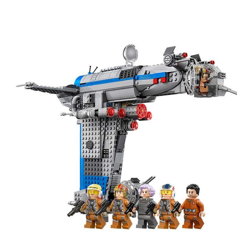 LOZ The Resistance Bomber Compatable With Legoing Starwars 75188 873Pc Star wars Last Jedi Building Block Toys 05129 without box