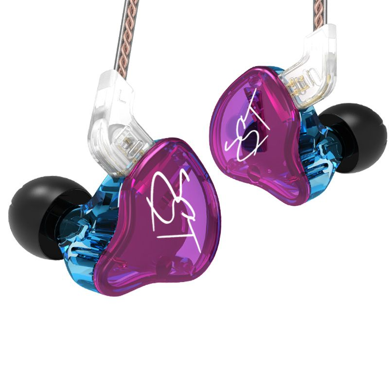 KZ ZST Colorful Balanced Armature With Dynamic In-ear Earphone BA Driver Noise Cancelling Headset With Mic Replacement <font><b>Cable</b></font> ZSN