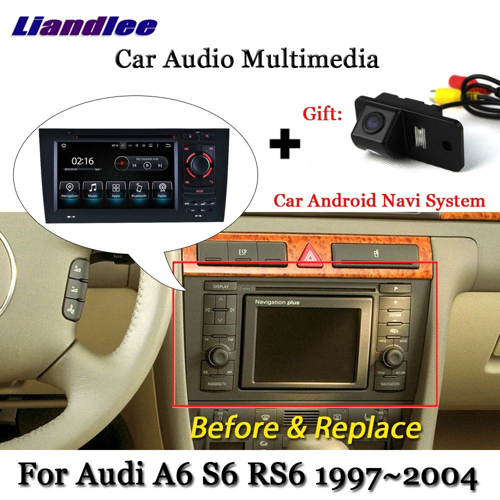 Liandlee Auto Android System Für Audi A6 S6 RS6 C5 1997 ~ 2004 Radio DVD TV Carplay Kamera GPS Navi navigation BT Screen Multimedia