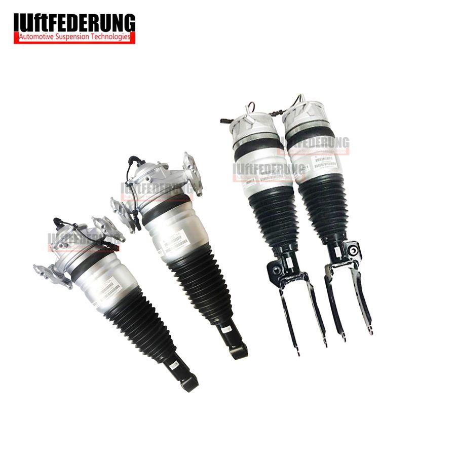 Luftfederung 4PCS 2011-2013 Q7 VW Touareg Cayenne Front Air Spring Suspension Rear Air Ride 7P6616040N(39N) 7L5616019K(20K)