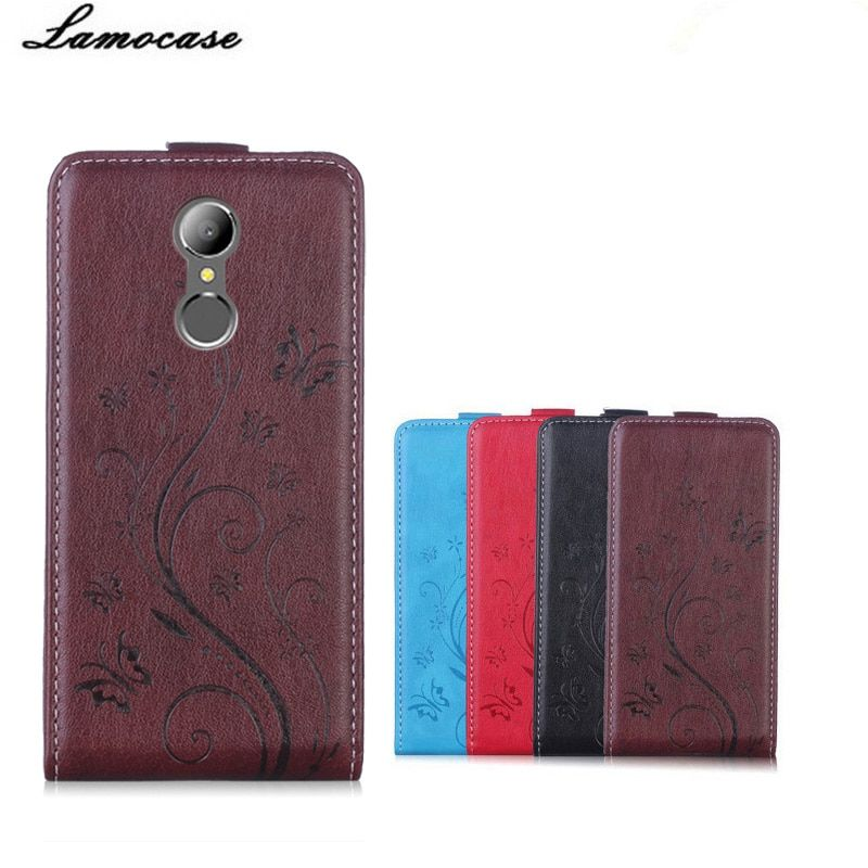 Lamocase Cover Case For Homtom HT37 Case Silicone inner Card Slot Flower Print PU Flip Leather Cover For Homtom HT37 Phone Case