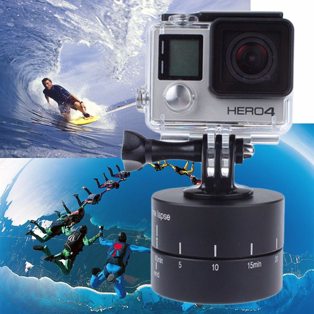 Time lapse 360 degree Auto Rotate Camera tripod head base 360 TL timelapse For Xiaoyi for Gopro Camera SLR for Mobile Phone