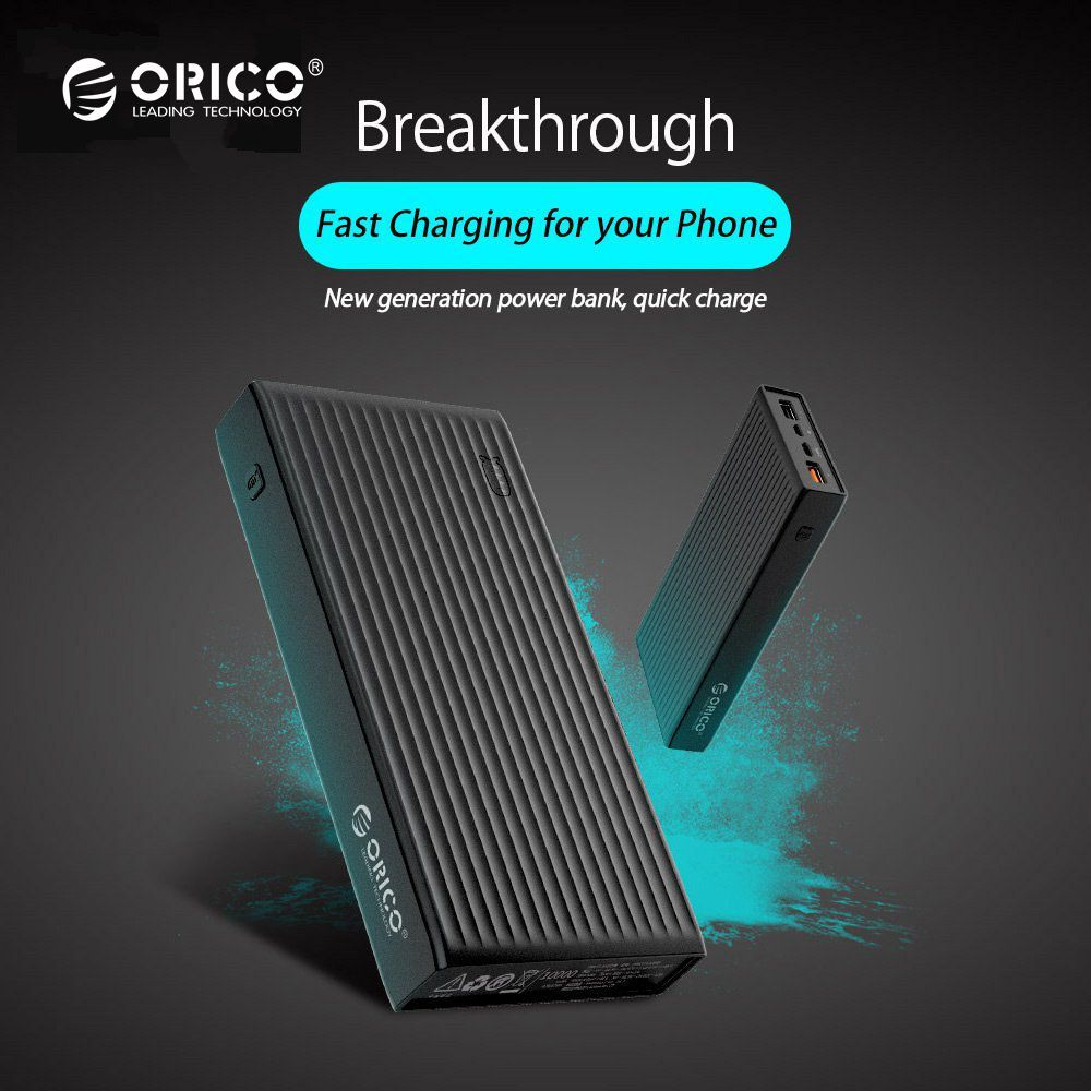 ORICO 10000-20000mAh Powerbank Portable External Battery Ultra Slim USB Mobile Charger Quick Charge for Phones and Tablets