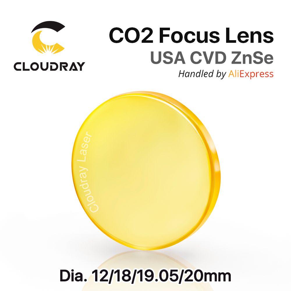 USA ZnSe CO2 Focus <font><b>Lens</b></font> Dia. 12 - 20mm FL 50.8 63.5 101.6mm 1.5 - 4 CVD for Laser Engraving Cutting Machine Free Shipping