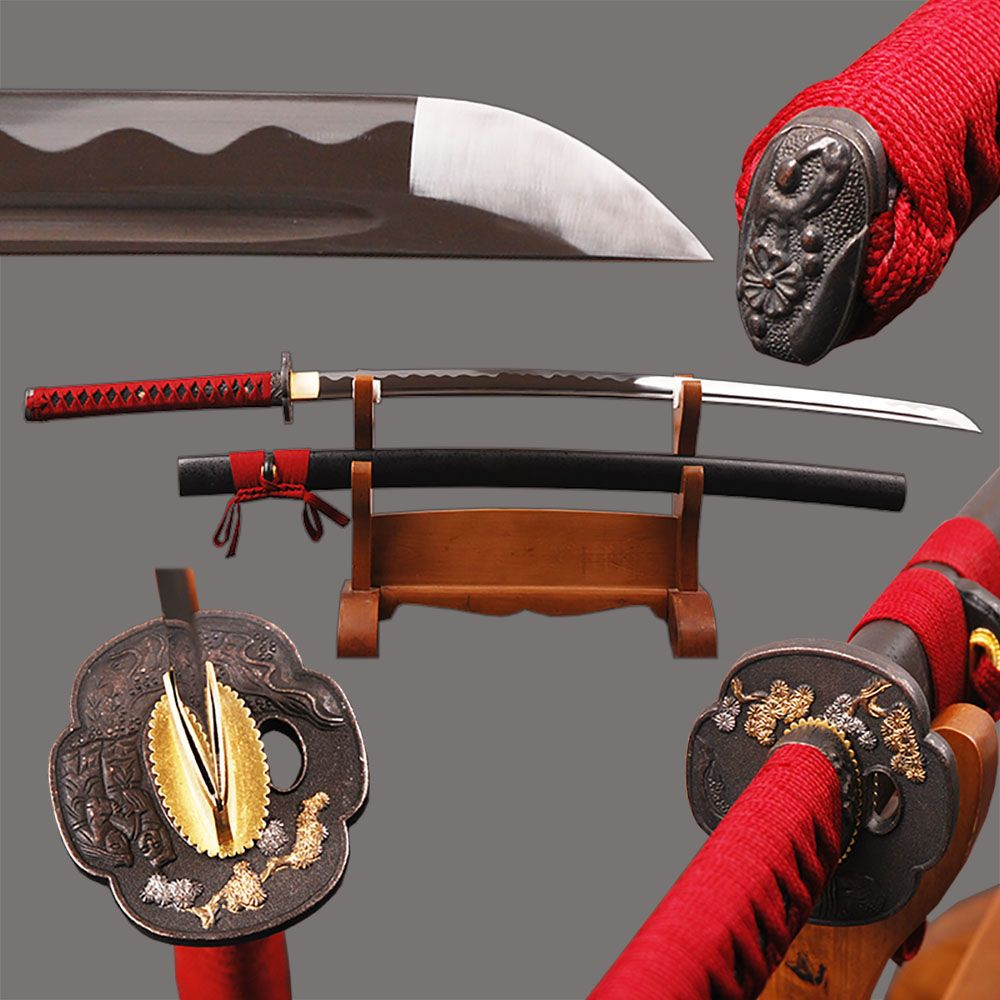 Fully Handmade Japanese Samurai Katana Sword High Carbon Steel Sharp Blade Sword Full Tang Battle Ready Espadas Cutting Knife