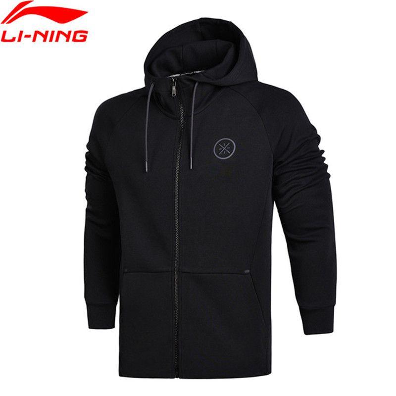 Li-Ning 2018 Men Wade Sweaters Regular Fit Zip Hoodie Jackets Interlock Knit Fitness Comfortable Li Ning Sports Sweaters AWDN097