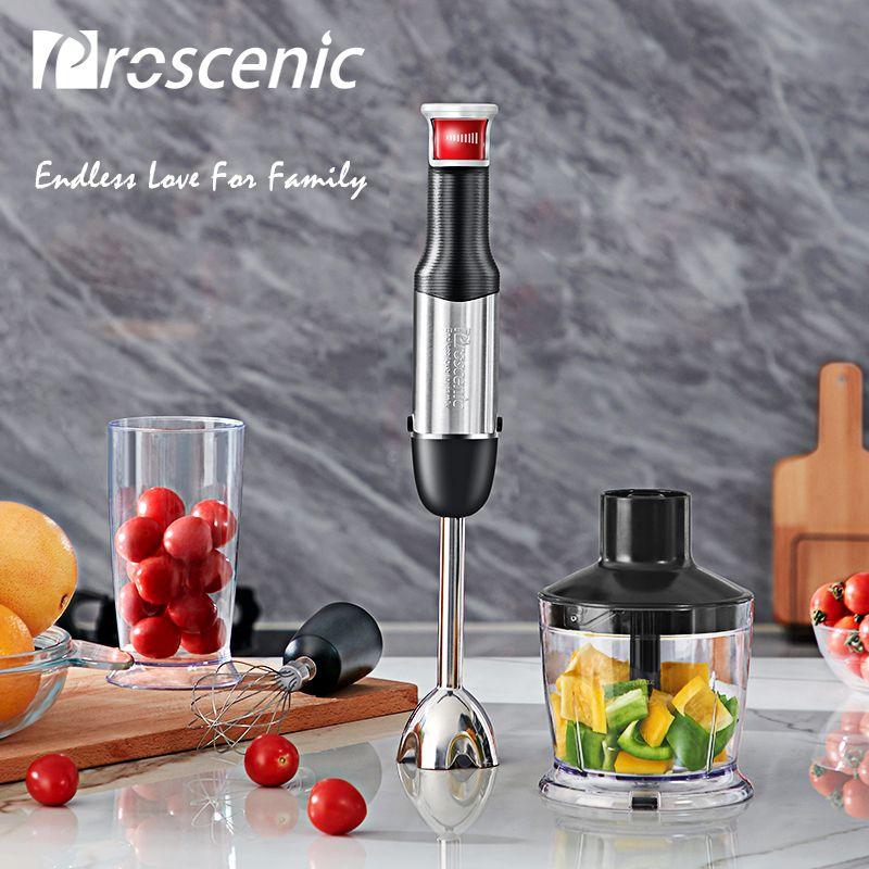 Proscenic Hand Mixer Tragbare Elektrische Stick Mixer Smart Geschwindigkeit Küchenmaschine Set BPA frei Handheld Stick Mixer Mixer 800 watt