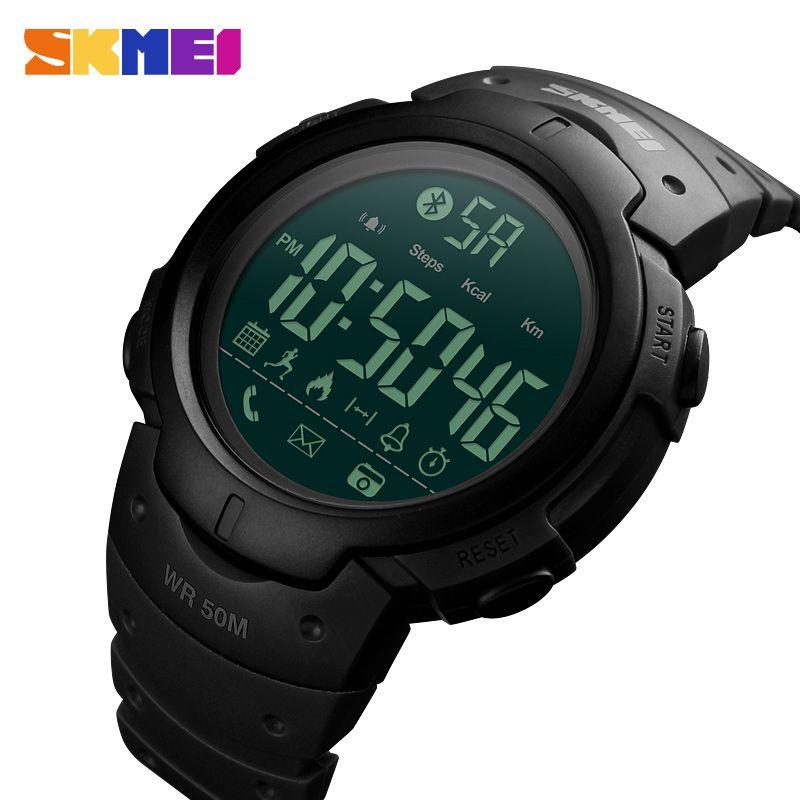 Men's Sport Smart Watch SKMEI Brand Fashion <font><b>Pedometer</b></font> Remote Camera Calorie Bluetooth Smartwatch Reminder Digital Wristwatches