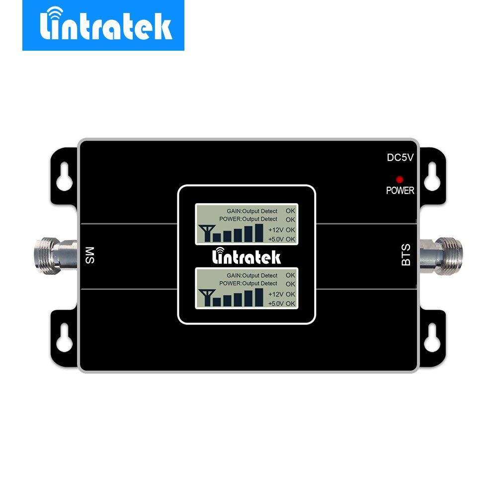 2017 Lintratek Celular Signal Booster 2G GSM 900MHz + 3G 2100MHz Dual Band Mobile Phone Signal Repeater Double LCD Display New @