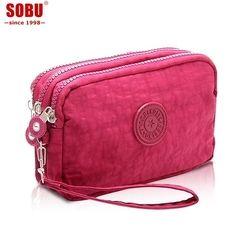 Nuevo monedero mujeres pequeñas cartera bolsas de almacenamiento para tarjeta teléfono práctico de lona bolsos diarios pequeños accesorios de viaje R075
