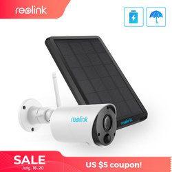 Reolink Argus Eco dan Solar Power Pengisian Kamera Wifi 1080P Full HD Keamanan IP Cam Outdoor Indoor Video Surveillance dengan Pir