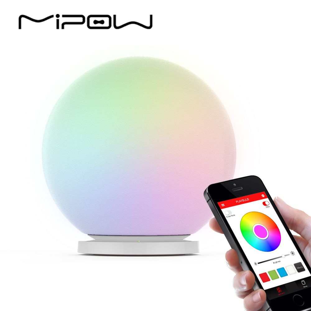MIPOW PLAYBULB Sphere Smart Color Changing Waterproof <font><b>Dimmable</b></font> LED Glass Orb Light Floor Lamp Night Lights Tap to Change Color