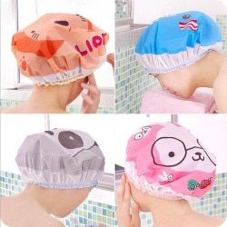 Women Ladies Clear Bath Spa Caps Elastic Waterproof Hats Comfortable Lovely Caps Shower  Bathing Products